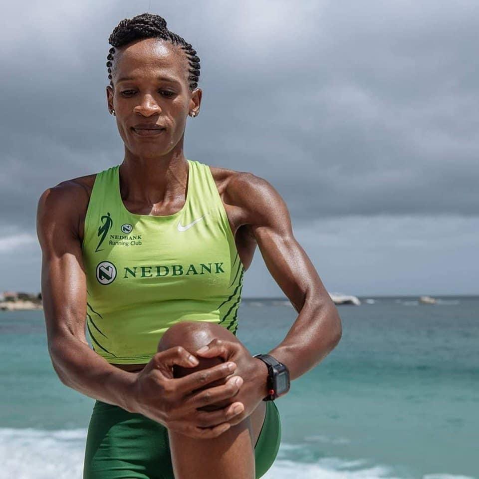 Prison warder and marathon runner Ntombisintu Mfunzi.