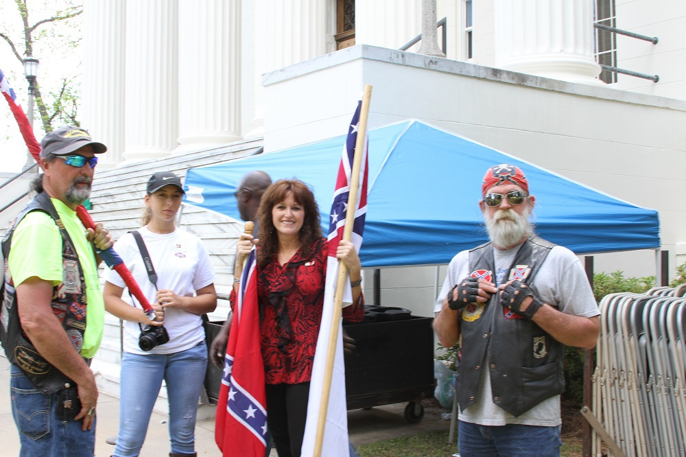 Americans Celebrating Confederate Day in the USA