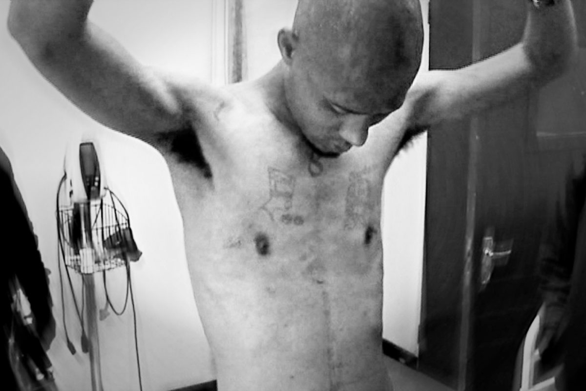 Gershwin Coutts, an inmate at Mangaung Prison, claims to have been assaulted by the prison's emergency security team. Sometimes the guards would force the inmates to strip, before pouring cold water on them and shocking them with electric shields.