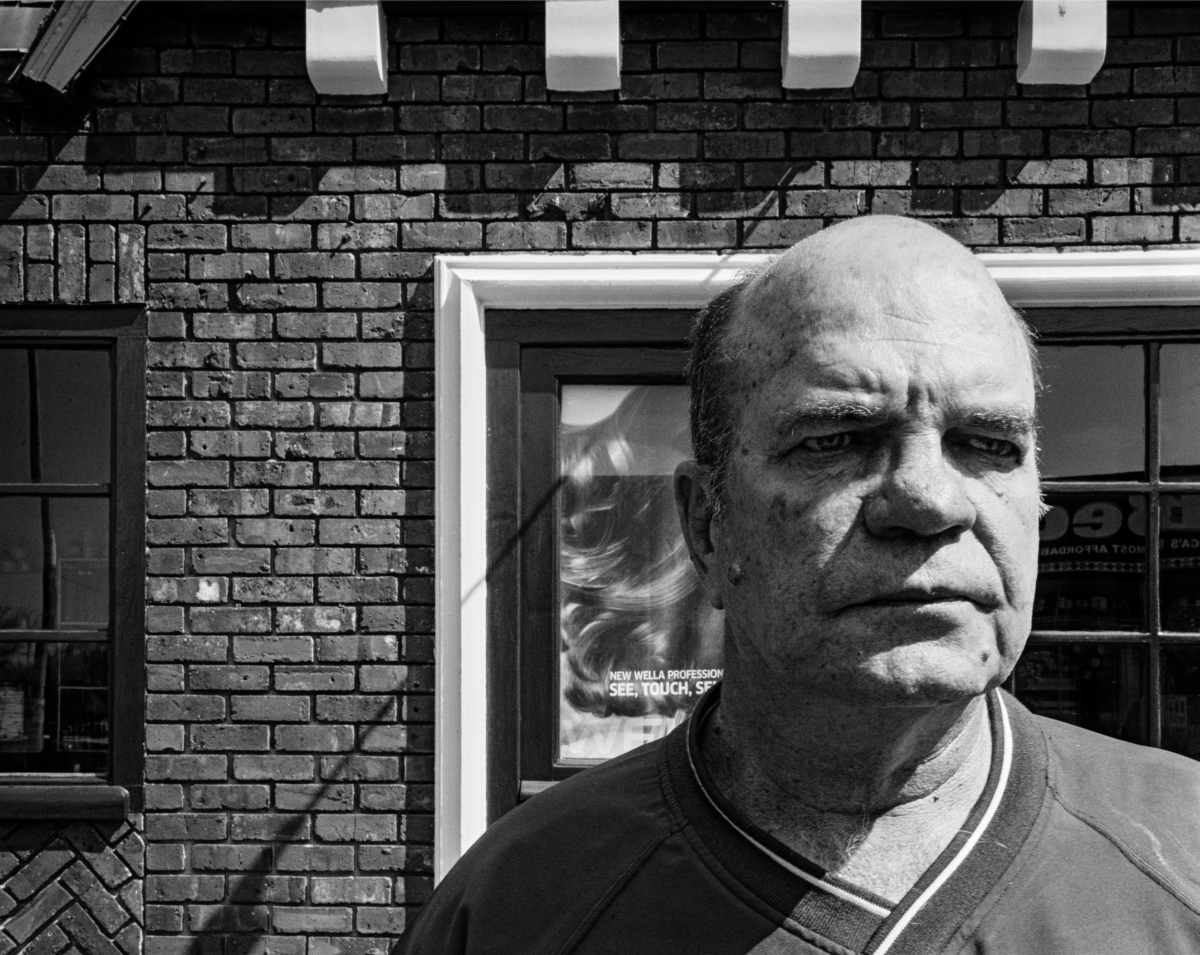 Allan Heyl where he robbed his first bank in 1973, Main Road, Kenilworth, Cape Town. 21 September 2011. Picture: David Goldblatt