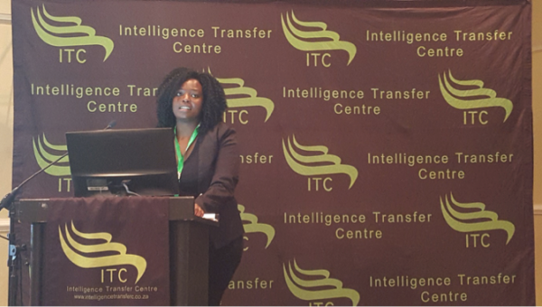 Simonia Mashangoane speaks at the Courts and Case Flow Management Conference