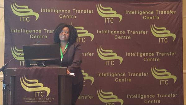 Simonia Mashangoane speaks at the Courts and Case Flow Management Conference